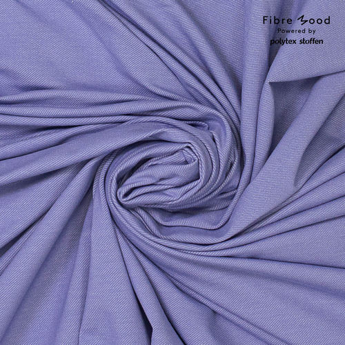 French Terry FIBRE MOOD Mabel denim look Persian violet